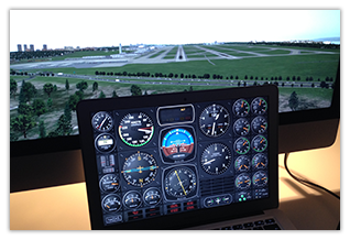Air Manager: virtual flight simulation instrument panels